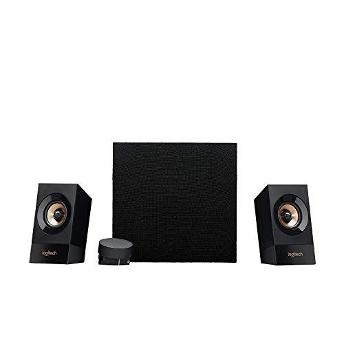 Logitech Z533 Sistema di Altoparlanti Multimediali 2.1 con Subwoofer, 120 Watt, Suono e Bassi Potenti, Ingressi Audio 3.5 mm e RCA , Presa EU/IT, PC/PS4/Xbox/TV/Smartphone/Tablet/Lettore Musicale