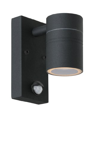 Lucide ARNE-LED - Spot Mural Extérieur - Ø 6,3 cm - LED - GU10 - 1x5W 2700K - IP44 - Noir