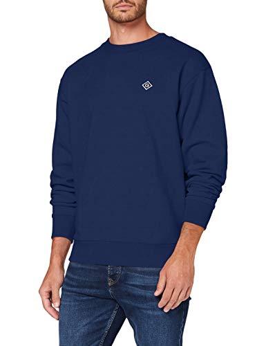 GANT D1 Diamond G C-Neck Sweat Suéter, Azul Persa, S