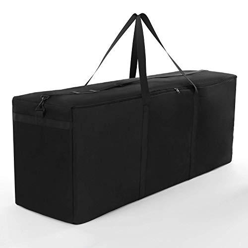 Baogu Schutzhülle für Auflagen Wasserabweisende Gartenpolster Aufbewahrung Tasche mit Tragegriff Aufbewahrungsbeutel 173 * 76 * 51cm Schwarz