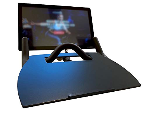 Hustle Tray for Peloton Matte Black to Match Your Bike Real Wood Desk for Laptop Phone Tablet or Book Elite Quality Spin Bike Tray