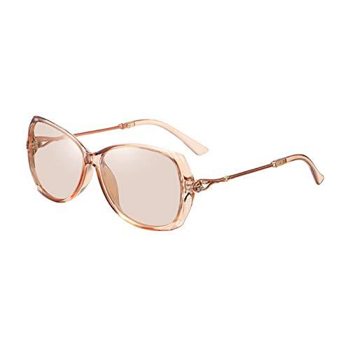 Sharplace Gafas de Sol de Moda para Mujer, Gafas de Sol Polarizadas para Conducción a La Moda, Gafas de Sol Antideslizantes con Borde de Diamante, Gafas Protect - Cambio de Color de la Lente