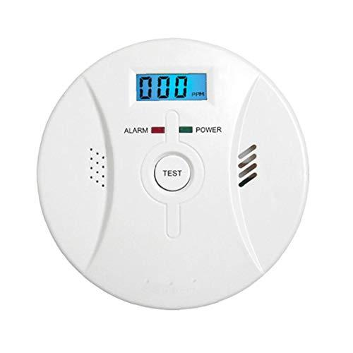 Co Alarm Rauchmelder Kohlenmonoxid-Alarm mit LCD-Display Sprachbenachrichtigung für Heim Feuer Gas Leaks