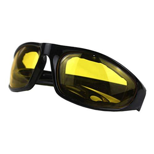 guoyy conducción Moto Gafas de protección Gafas de Sol Cortavientos equitación Motor Gafas de Ciclismo en Plein Air Universal, Amarillo