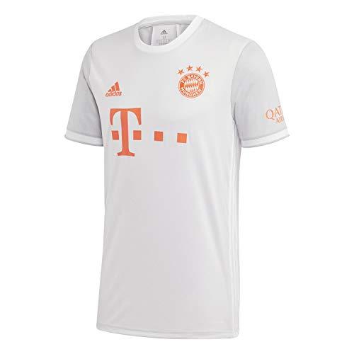 adidas Herren 20/21 FC Bayern Away Jersey Trikot, Dshgry/White, M