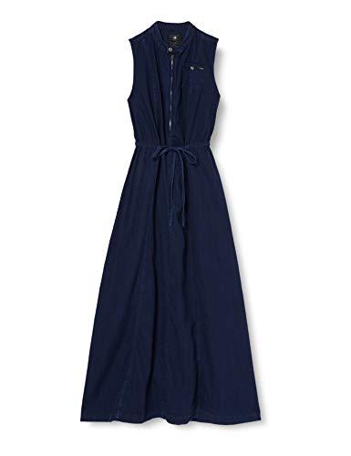 G-STAR RAW Damen Chopper Maxi Dress Wmn S/Less Kleid, Blau (Sartho Blue 6067), 36 (Herstellergröße:S)