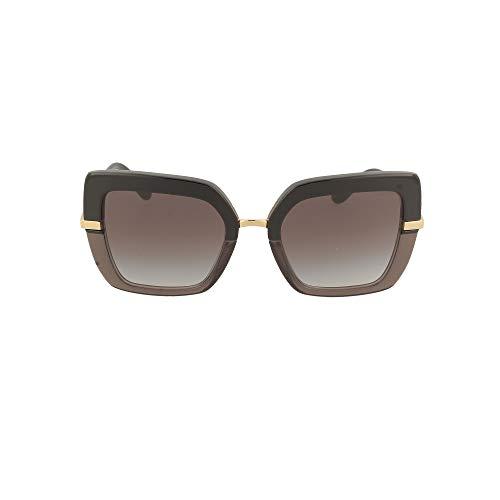 Dolce & Gabbana Damen 0DG4373 Sonnenbrille, TOP Black ON TRANSPARENT Black, 52