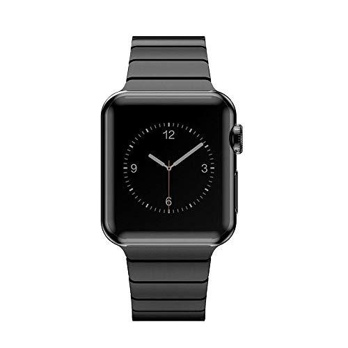 CoverKingz Edelstahl Armband ersetzt Apple Watch Series 5/4/3/2/1 Armband, Gliederarmband 42mm/44mm, Metall Band Schwarz