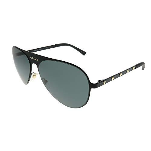 Versace 142587 Gafas de sol, Matte Black, 59 Unisex