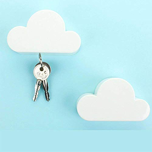 Pack 2 Novedad White Cloud shapes magnético titular
