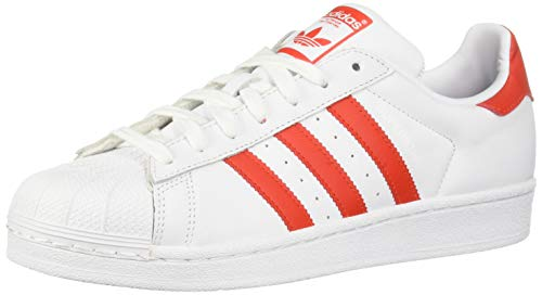 adidas Originals Superstar, Scarpe da Ginnastica Donna, Bianco Active Red Core Nero, 37.5 EU