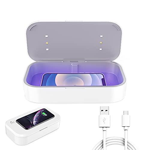 Multifunktional UV Desinfektionsmittel mit induktive ladestation, Amlink Geräumiger UV Box Handy Sterilisator mit Aroma Diffusor,10W UV Box Desinfektion mit USB-Aufladung für Babyflaschen Gläser