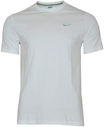 Nike Embrd Swoosh T-shirt pour homme Blanc (blanc / foncé gris chiné / gris technique