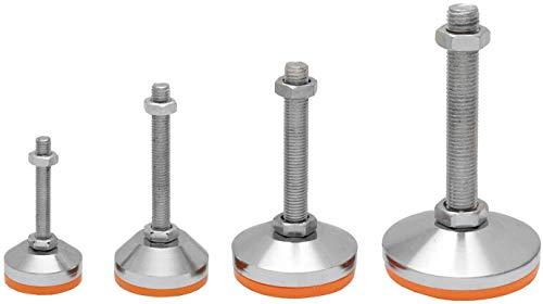 Schwerlast Maschinenfuß, Stellfuß Vibrationsdämpft und Höhenverstellbar in 8 Größen auswählbar (Ø 80x140mm M16)