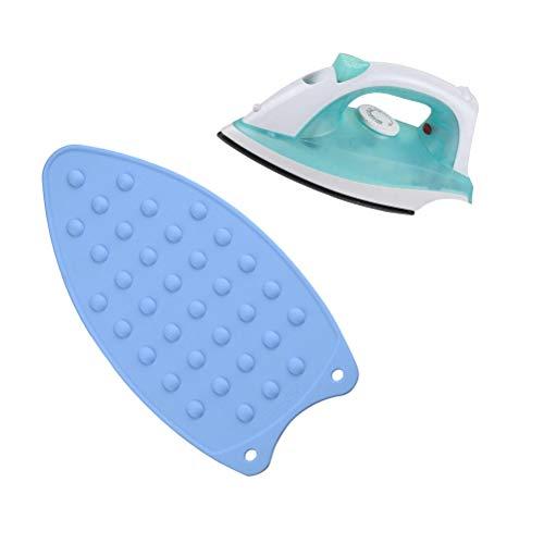 BESTonZON Silikon Bügeleisenunterlage Eisen Rest Auflage Bügelbrett Hitzebeständig rutschfest Pflegeleicht (Zufällige Farbe)