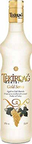 6 Flaschen Tekirdag Raki Türkei Gold a 0,7L 45% Vol.