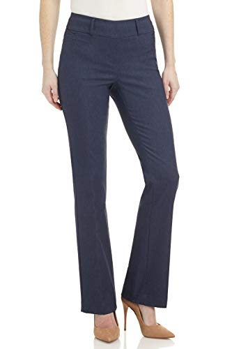 Rekucci Pantaloni Bootcut Stretch Donna Ease in To Comfort Fit (44, Indaco)