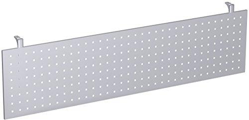 Gera Möbel 4 Fuß Flex Knieraumblende, Tischzubehör, Metall, Silber, 180 x 6.5 x 40 cm