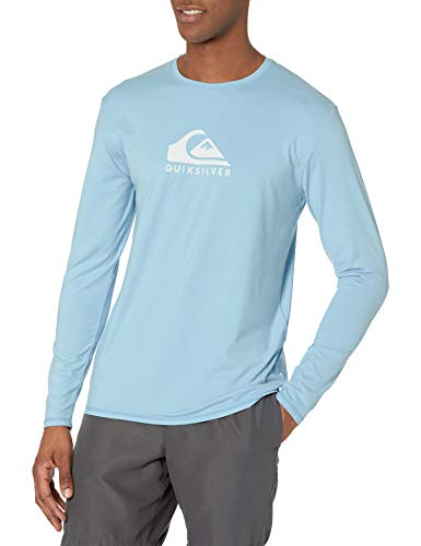 Quiksilver Long Sleeve Rashguard Surf Tee Maglietta Rash Guard, Blu Arioso Solid Streak LS, XXL Uomo