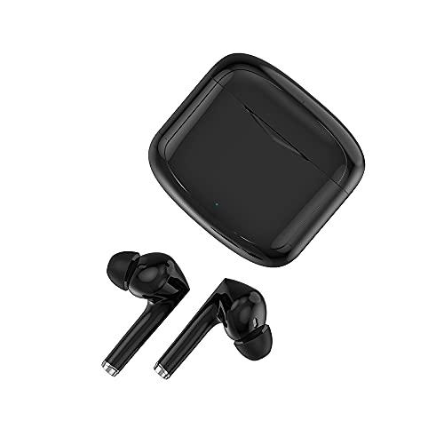 Festnight Wireless in-Ear Headset BT5.1 Smart Touch Control Auricolare CVC + DSP Doppia cancellazione Intelligente del Rumore/Suono Stereo HiFi/Altoparlante Ultra dinamico da 13 mm Cuffie per