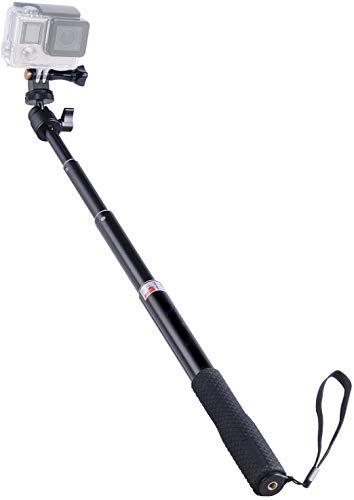 Toyaword SmaPole Q1 Ausziehbare Selfie Stick/Einbeinstativ für DJI OSMO Action/Apeman/Crosstour/Victure Cam/GoPro Hero 8/7/6/5/4/3+/3/2/1/Session/für Kompaktkameras