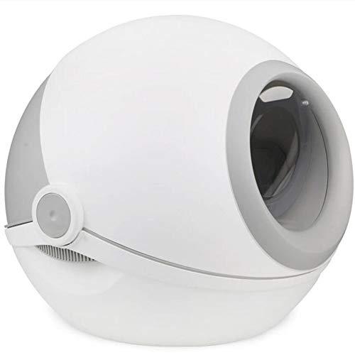 CSDY-Ultra selbstreinigende Katzentoilette, Abfalleimer-Hygiene mit Kapuze, Geruchlos,Grau