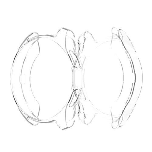 Hemobllo kompatibel mit Samsung smart Watch 42mm weiches TPU stoßfest rundum Schutz stoßstangenkoffer uhrenschutz rahmenabdeckung für samsunggear s3 (transparent)