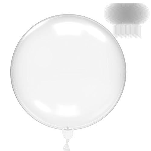 ORNOOU Clear Bobo Balloons 20PCS 24Inch Transparent Bubble Balloon Round Latex Balloon for DIY Valentine#039s Day Birthday House Decor Christmas