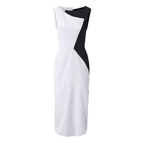 Auifor Damesjurk, mouwloos, casual jurk, vrouwen, ronde hals, Vestido, midi-party-jurken