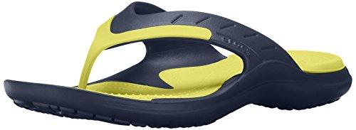 crocs Unisex-Erwachsene MODI Sport Flip Zehentrenner, Blau (Navy/Tennis Ball Green), 37/38 EU