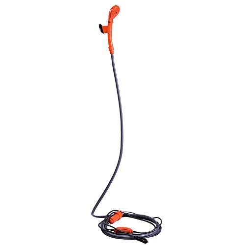 12VOutdoor Shower Car Plug Kit de ducha portátil para exteriores montado en un vehículo