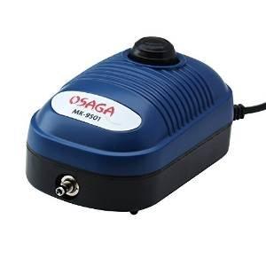 Koi-boerse OSAGA MK 9501 Luft Membrankompressor sehr Leise und nur 2 Watt stufenlos regelbar