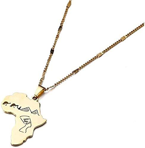 Ahuyongqing Co.,ltd Collar Collar Mapa de Acero Inoxidable Collares Pendientes Pirámide de Camello Egipcio Joyería de Moda Collar Colgante Regalo para Mujeres Hombres Niñas Niños
