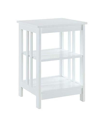 Convenience Concepts Mission End Table, White