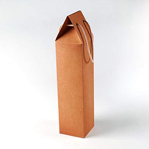 Selfpackaging Caja de cartón Regalo para una Botella. con Forma de Bolsa, para Regalar una Botella de Vino - Pack de 50 Unidades