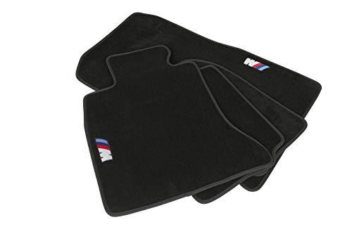 Mapexer Velours-Fußmatten - Teppiche für BMW 4 er (Linkslenker) - Hochwertig & edel - Genähtes M-Logo - Perfekte Passform - Pflegeleicht, gut zu saugen, robust & langlebig (F36 Gran Coupe)