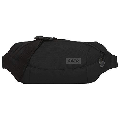 AEVOR Shoulder Bag - wasserabweisend, 3 Liter Volumen, Mesh-Innentasche, 2 Wege Zipper, größenverstellbarer Gurt mit Schnalle, Black Eclipse - Schwarz