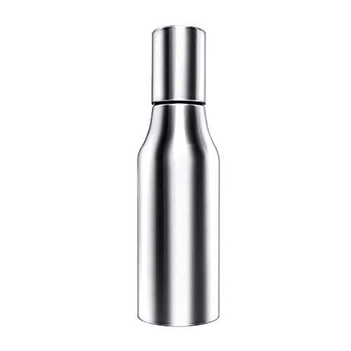 qiguch66 - Pulverizador de aceite de oliva, 16.9fl oz/25.4fl oz/33.8fl oz, pulverizador de aceite para cocinar, versátil spray de vidrio para aceite de oliva, botella de vinagre, botella de vidrio para cocinar, hornear, asar, asar, Plateado