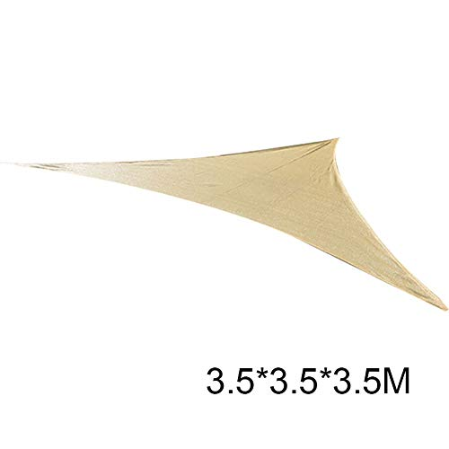 OZYN Toldo Vela De Sombra HDPE Polietileno Transpirable Bloques UV Toldo De Vela De Sombra Cubierta De Sombra Duradera For Terraza Patio Jardín Patio 4 Tamaños (Size : Triangle 3.5x3.5x3.5)