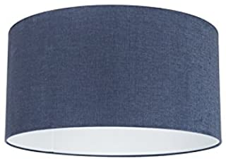 QAZQA Moderno Algodón y poliéster Pantalla tela azul oscuro 50/50/25, Redonda/Cilíndrica Pantalla lámpara colgante,Pantalla lámpara de pie