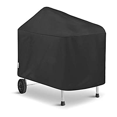 Unicook Outdoor Grill Cover for Weber Performer Charcoal 22-Inch Grills, (Compared to Weber 7152 and 7455), Heavy Duty Waterproof Fade Resistant Barbecue Cover, Black
