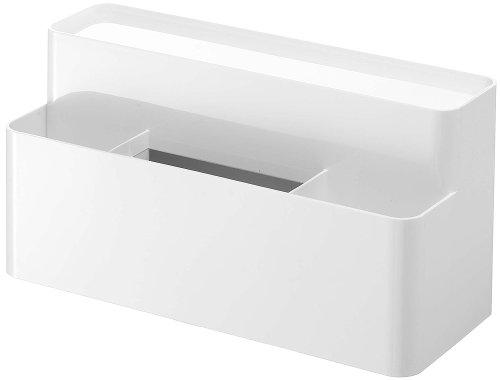リモコン&ティッシュケーススタンド スマート ホワイト