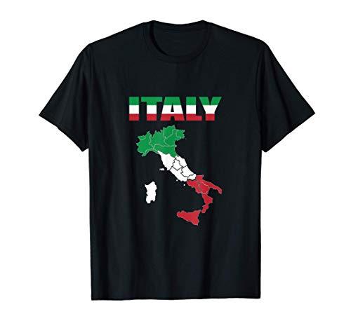 Italienische Flagge auf Italien T-Shirt Italia T-Shirt