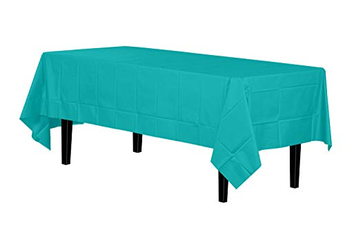 12-Pack Premium Plastic Tablecloth 54in. x 108in. Rectangle Table Cover - Lavender