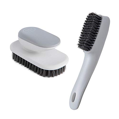 Ganganmax Cleaning Brush Household Small Laundry Brush for Soft Bristle Scrub Clothes Shoe Underwear Fabric Hand Cleaning Brush (Gray)