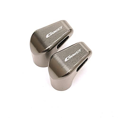 Anti corrosión Válvula de neumático de Rueda de Motocicleta Tapa de vástago Cubiertas herméticas para C400GT C400 GT C 400GT 2019-2021 2020 Durable (Color : Grey)
