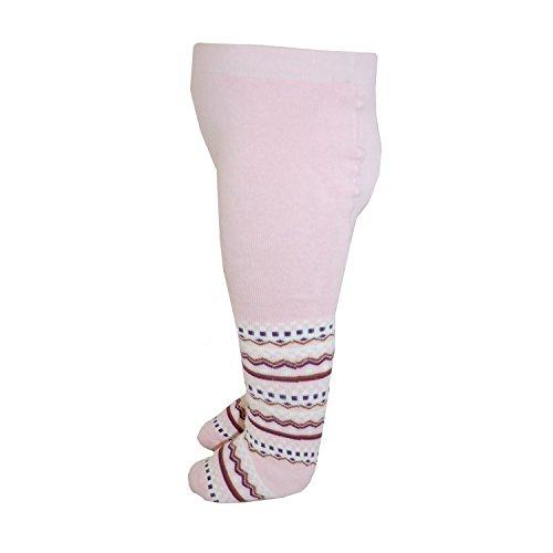 RIESE STRÜMPFE - Baby Strumpfhose Mädchen gemustert, rosa, Größe 80-86