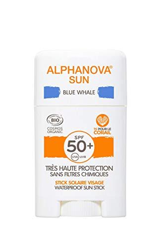 Sonnenschutz Stick Gesichts, Tatoo, Kinder, Wassersport Bio Sonnencreme lichtschuttfaktor 50 + Naturkosmetik Vegan, ohne mikroplastic, riffsicher (Himmelblau)