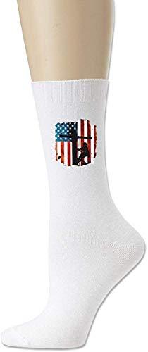 HNJZ-GS Lineman American Flag Cable eléctrico Lineman Calcetines de algodón cómodos para...