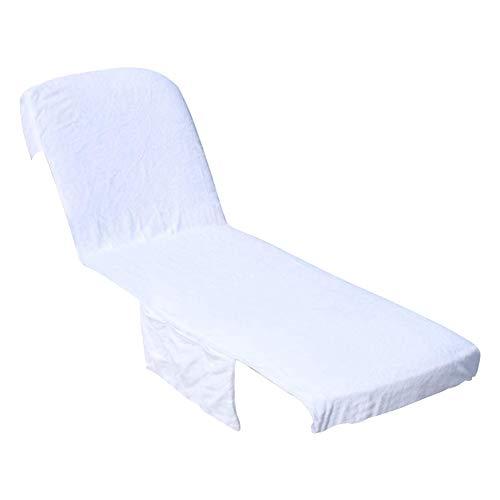 ZSooner - Funda para silla de salón con bolsillo plegable, supersuave, portátil, de algodón, para exteriores, jardín, vacaciones, hotel, piscina sólida universal (1 unidad)